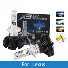 цены на LED Car Headlight Bulb For Lexus GS300/IS200/LS400/GX460/Rx450h/IS250/RX300 H4 H7 H11 H1 H3 9005 Led 12V 12000LM Auto Lamp  в интернет-магазинах