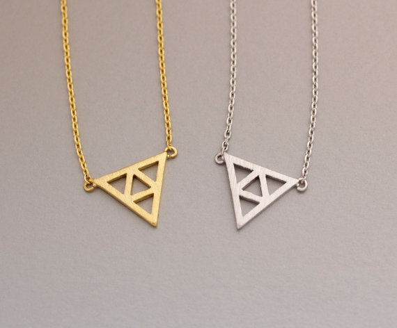 jewelry necklace triangle necklaces gold dagger pendant white albeit