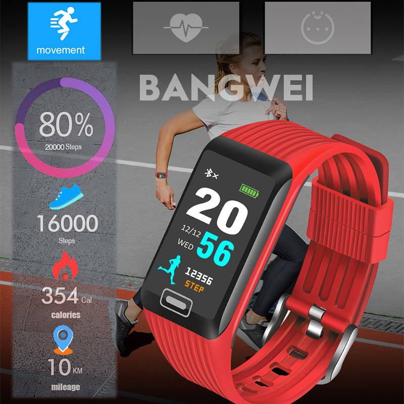 Digital Watches Bangwei 2019 New Smart Watch Men Heart Rate Blood Pressure Pedometer Multi-function Sport Watch Fitness Tracker For Ios Android Cheap Sales