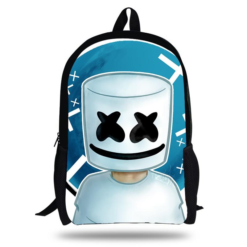 Newest Marshmello Backpack Black Backpack Set For Children fashion School Bags Boys Girls Bookbag 2018 rick and morty backpack for children bookbag boys girls school bag