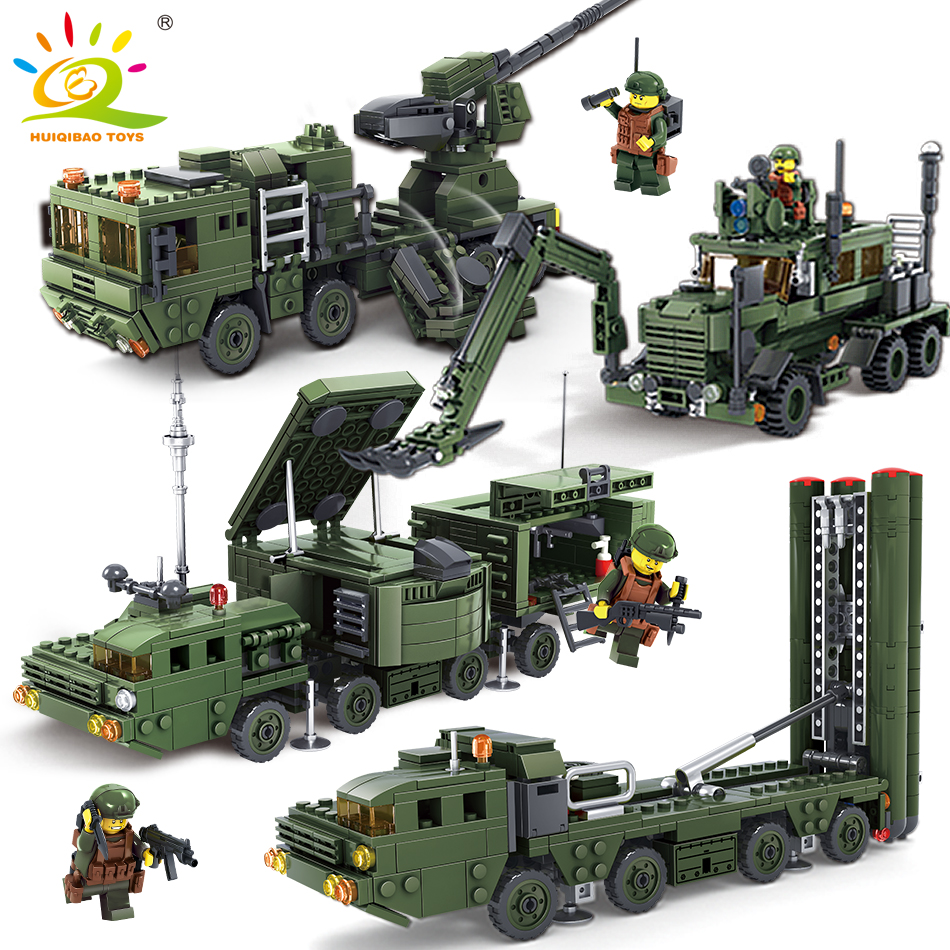 HUIQIBAO TOYS Military Army Weapon Vehicle Soldier Figures Building Block Compatible Legoed City Enlighten Bricks For Friends стоимость