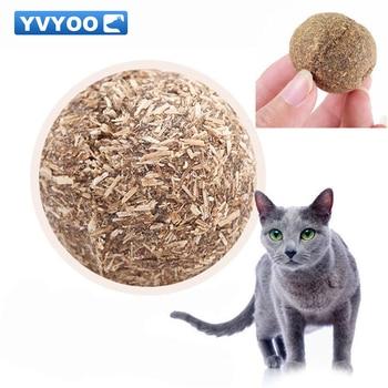 YVYOO Pet Products Cat dog Toy Natural Catnip Ball Menthol Flavor Cat Treats 100% Edible Cats-go-crazy Treats Ball 1pcs D12 1