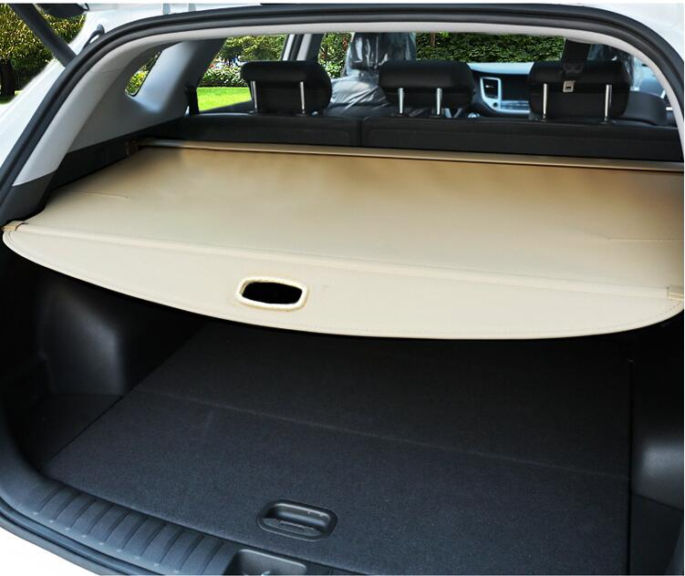 Car Rear Trunk Security Shield Shade Cargo Cover For KIA Sorento 2009 2010 2011 2012/2013 2014/2015 2016 2017 (Black beige) car rear trunk security shield shade cargo cover for ford edge 2009 2010 2011 2012 2013 2014 2015 black beige