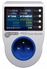 PR10-D FR16A (французский plug)/измеритель мощности/энергии/мера/запись/Будильник/ремень/0,1 ~ 4000 Вт/гнездо метр/meteric