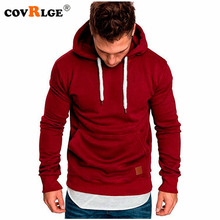 Covrlge Mens Sweatshirt Long Sleeve Autumn Spring Casual Hoodies Top Boy Blouse Tracksuits Sweatshirts Hoodies Men MWW144 cheap Full Solid REGULAR Hooded men hoodies None STANDARD Polyester Hoodies Sweatshirts Black Armygreen Khaki Redwine Lightgray Darkgray Navy