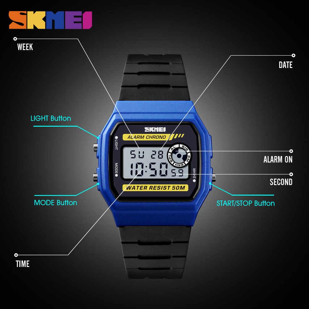 2019 SKMEI dames montre-bracelet numérique calendrier chronographe Sport montres 5Bar étanche femme horloge montre femme montre pour femme