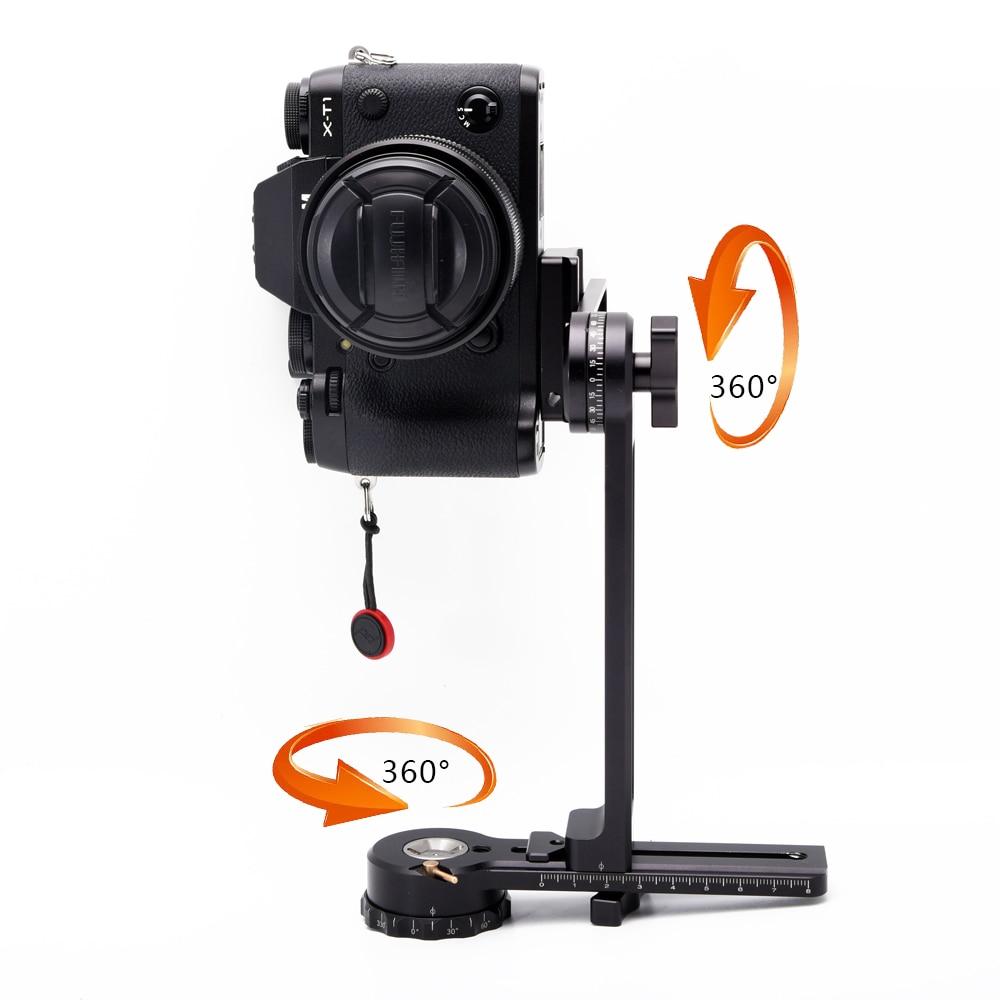 bilder für Tasche 360 Grad Panorama Stativkopf Gimbal Halterung Kit Fit Für Canon Nikon und Andere DSLR Kameras Mirrorless Kamera