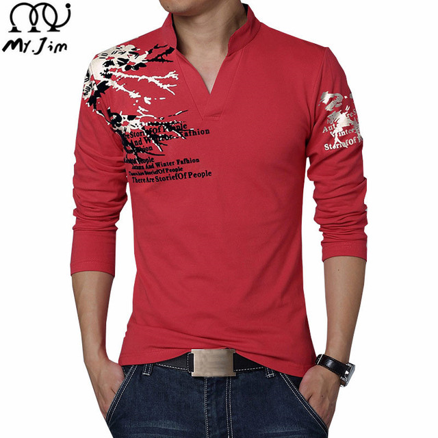 2016 Spring/Autumn new men's polo shirts fashion Stand collar  printing Long sleeve Big yards men's polo shirts