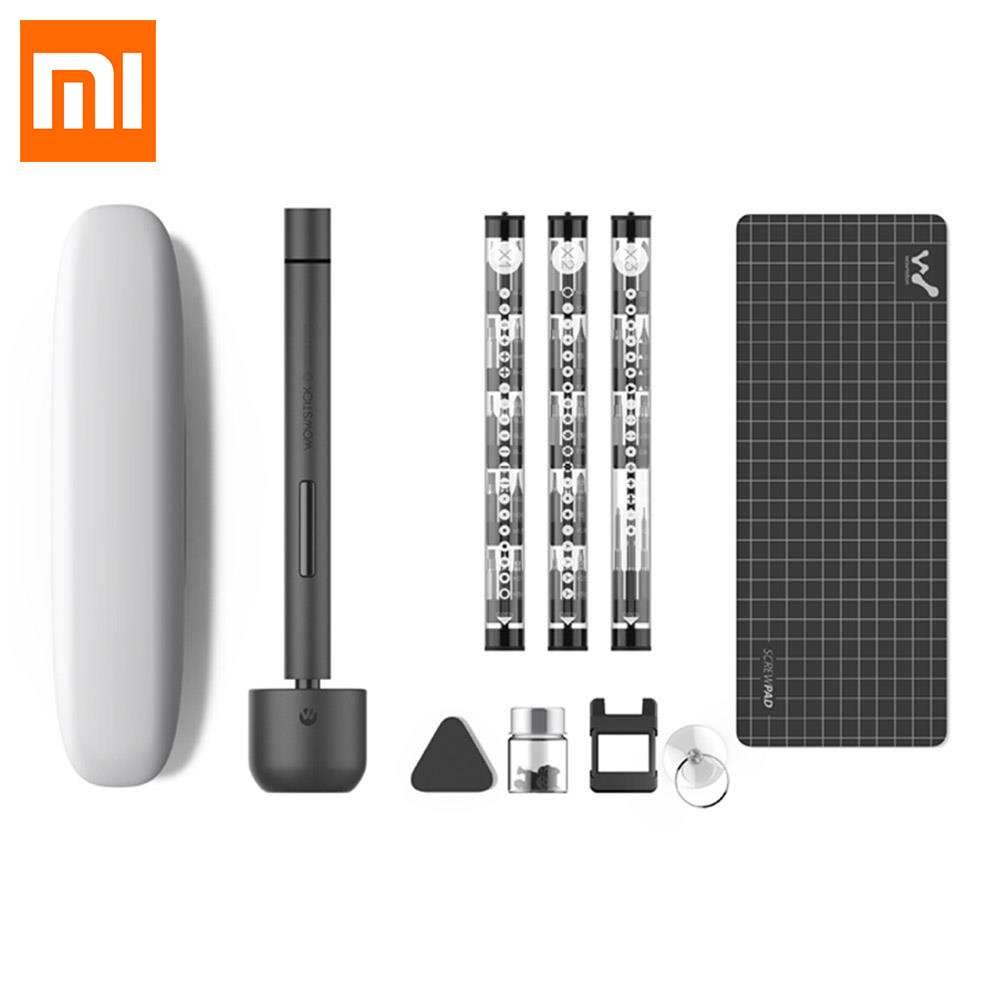 Xiaomi Wowstick 1F + 1F Pro Mini Elektrische Schraube Fahrer Set Bits Toolkit Legierung Körper LED Licht für Telefon Laptop digitale Produkte