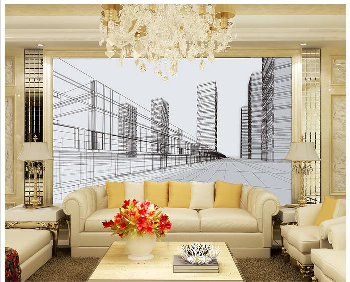 3d Wallpaper Custom Wallpaper For Walls 3d Wall Murals Hand Drawn Sketch City Background Wall
