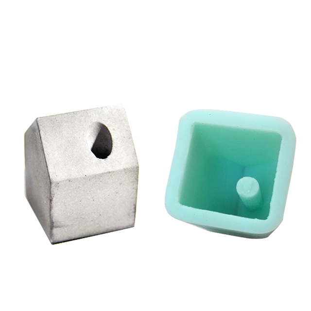 US $15 99 |silicone mold concrete cement pen holder paper small house shape  molds office desk decoration cement life supplies mould-in Cake Molds from