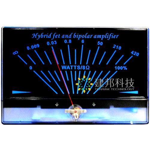 2x Classic Lake blue DB Level Header Audio power Amp VU meter w//1pc Driver Board