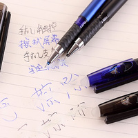 2 pcs/lot NNRTS Multi-functional erasable pen friction gel pen 0.5mm creative wholesale crystal touch screen black ink