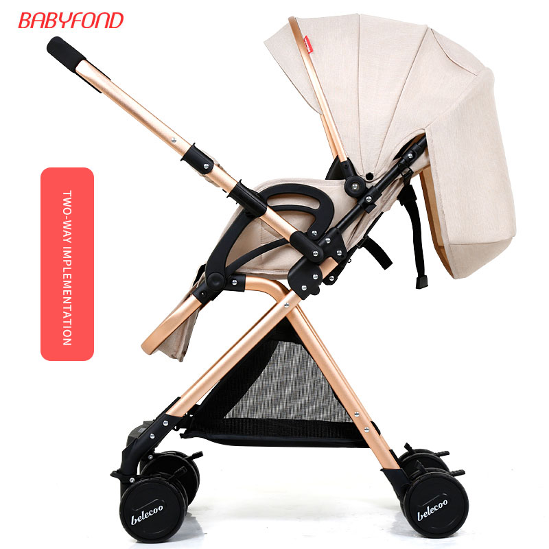Belecoo bella baby stroller light shock car umbrella bb folding trolley baby stroller ultra light portable folding cart shock absorbers car umbrella bb baby child small baby car