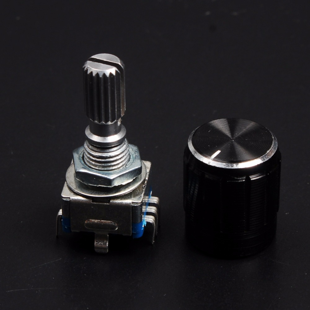 1Set 360 Degree Rotary Encoder Code Switch Digital Potentiometer and Knob