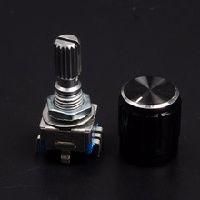Rotary Encoder,code Switch/EC11/ Digital Potentiometer,with Switch,5Pin, Handle Length 20mm цены