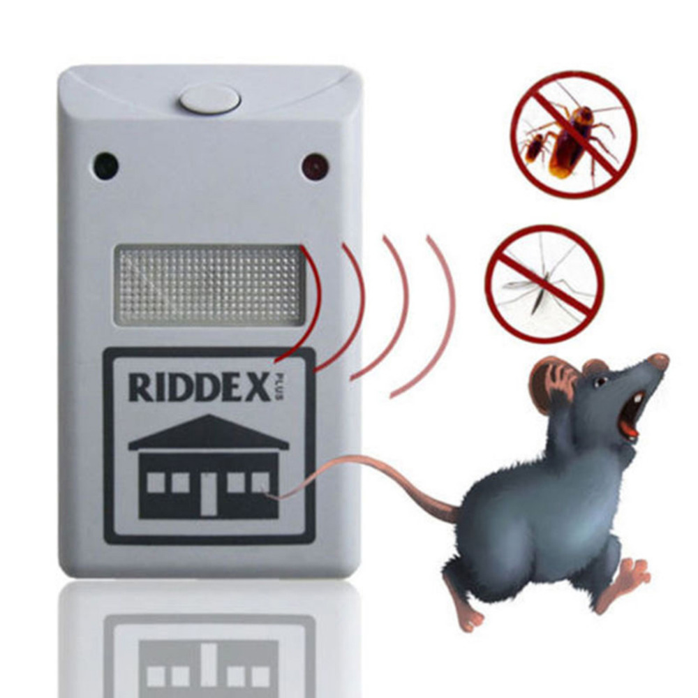 EU US Plug Electronic Ultrasonic Rat Mouse Repellent Anti Mosquito Repeller Rodent Pest Bug Reject Mole Repeller