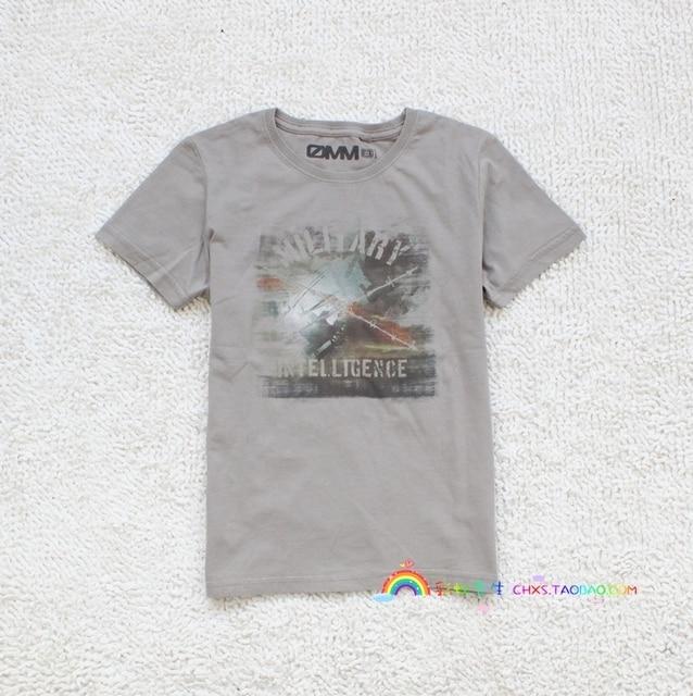 2013 summer teenage 100% cotton high quality child short-sleeve T-shirt 130 - 160