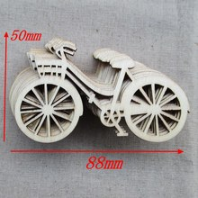 Free shipping, wholesale high quality bicycle die cutting wood Angle DIY scrapbook 88mm*48mm 50pcs 001001005