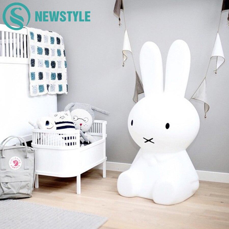 50cm Miffy Rabbit LED Night Light Baby Children Bedroom LED