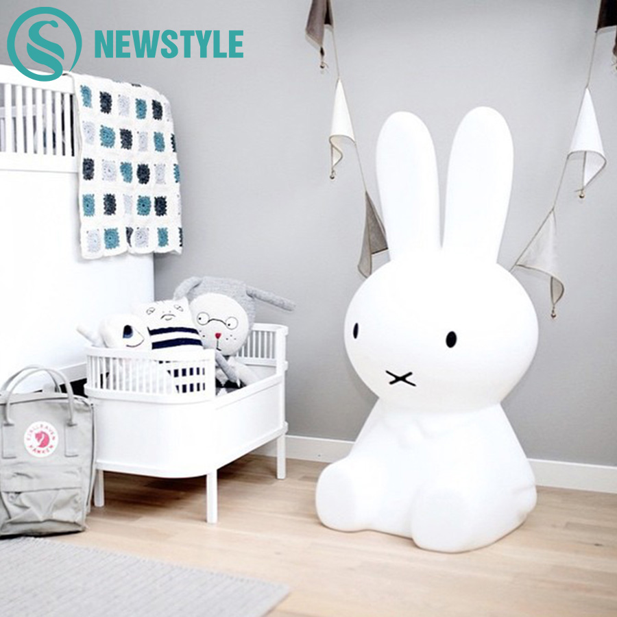 50cm Rabbit LED Night Light Baby Children Bedroom LED Night Lamp Lovely Cartoon Decorative Lamp for Kids Gift lovely stitch night light cartoon