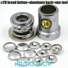 200set/lot #28 Round Fabric Aluminum Covered Cloth Button With One Tool Metal Jewelry Accessories For Handmade DIY Free Shipping цена