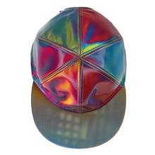 Назад в будущее часть 2 Марти McFly Cosplay Snapback Шляпа лазерный Цвет Изменение Радуга регулируемый кепки