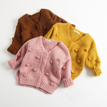 1-3 Years Old Baby Girls Sweater Autumn Winter Ball In Hand
