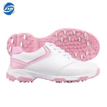 PGM new first layer of leather women's patented anti-skid golf shoes sports shoes ultralight waterproof