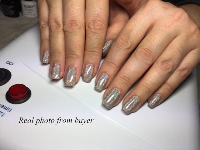 1g MIRROR POWDER NAILS Holographic Powder Chrome Nail Polish Unicorn Laser Glitter Sequins Pigment For Nails