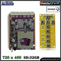 HD Mini DVR Board Module D130fps support 32G SD Card CCTV DVR Module Self Defense Support GPS Tracker