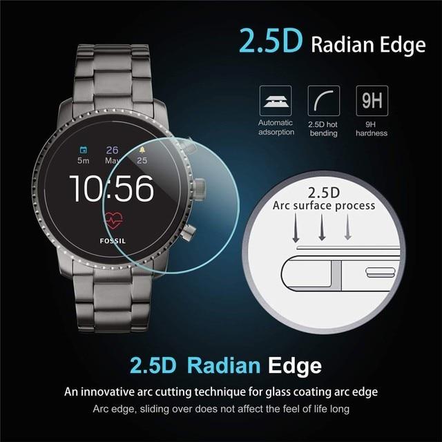 2Pack Für Fossil Q Explorist HR Gen 4 0,3mm 2,5 D Klar Gehärtetem Glas Screen Protector Smartwatch Bildschirm schutz Schutz Film