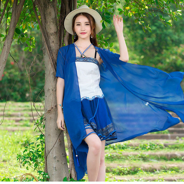 2017 Summer New Product Women Long Coat Open Stitch Women Sun Block Shirt Casaco Feminino Most Popular Pure Color Vestidos