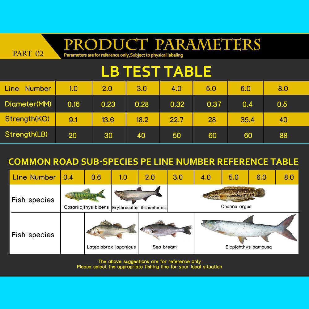 SIECHI hilo de pescar de PE trenzado multifilamento 500M 8 hilos Cable de sedales de pesca de carpa para agua salada 20 30 40 50 60 60 80LB