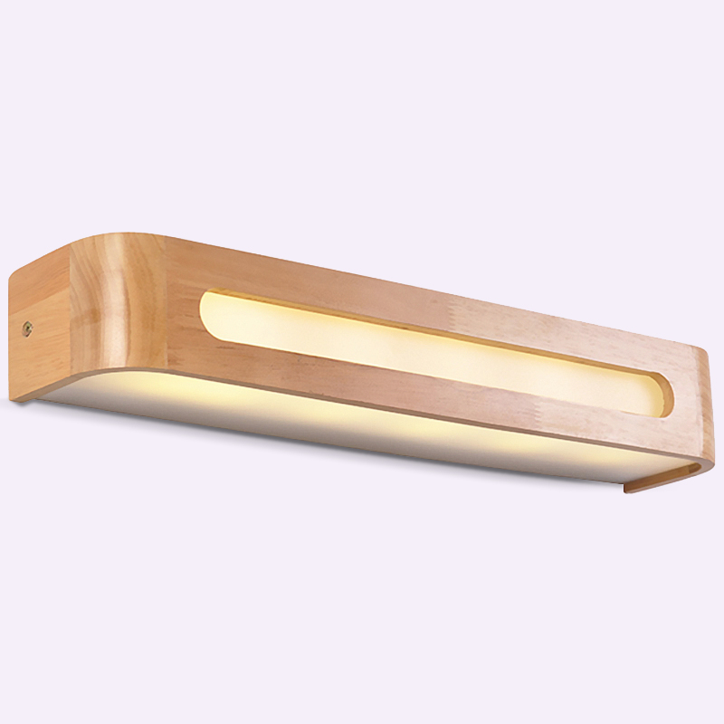Modern Japanese Style Led Lamp Oak Wooden Wall Lamp Nordic Solid Wood Mirror Wall Lights Sconce For Bedroom Bathroom toilet lights iron wood bathroom mirror light entrance aisle wall sconce bedroom study led wall lights modern led wood wall lamp