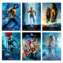 Aquaman 2018 DC Movie Poster Jason Momoa Superhero Film Silk Art Pictute Wall Arthur Curry Mera Posters And Prints