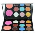11 Color Profesional Paleta de Maquillaje de Sombra de Ojos Blush Luminous Shimmer Sombra de Ojos Cosméticos Make UP Kit Set