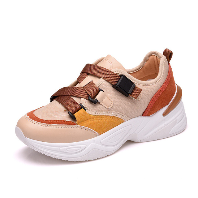 967b0ea175 Women's Low Top Platform Sneakers Breathable Mesh Running Sports Shoes  Casual Leisure Lace Up Walking Shoes Elevator Shoes