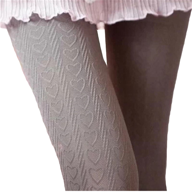 Sexy Female Tights Embroidery Knitting Pantyhose Love Peach Heart Stripes Vertical Harajuku Velvet Stocking Women Rompers W059