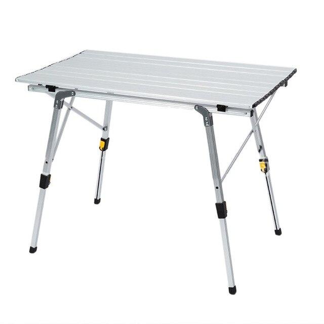 Portable Camping Table Outdoor Golden Aluminium Alloy Foldable Folding Picnic Table Ultralight Mesa Plegable For Hiking Picnic