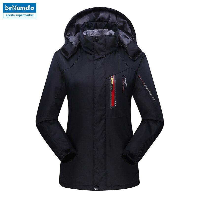 Women ski jacket Mountain Thicken Plus Size Fleece Ski wear Waterproof Hiking Outdoor Snowboard Jacket Female