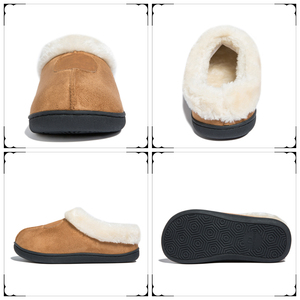 Image 5 - Winter Womens Slippers Big Size 35 50 Lovers Fur Slides Plush Flat Shoes Female Soft Home Keep Warm Cotton Shoes Casual Unisex