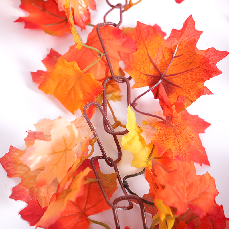 New creative Christmas holiday autumn leaves chain maple leaf vine Christmas family party holiday decoration HOYVJOY in Artificial Plants from Home Garden