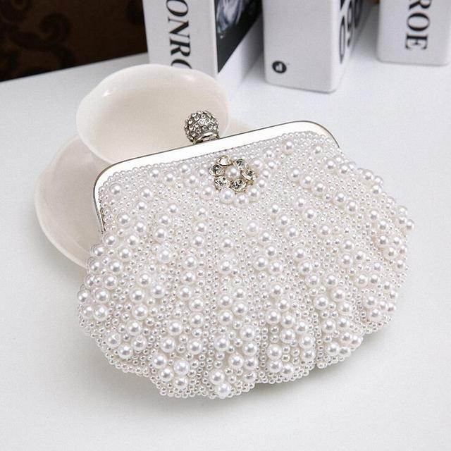 FASHION TENDER 2015 women Clutch evening bags women wallet pearl beaded handbags Clutch Chain clutch shoulder bag LI-117