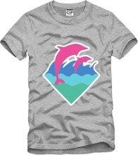 Pink Dolphin T Shirts Hip Hop Mens Summer Cotton Short Sleeve Tshirts Brand Skateboard Graphic Tees Dolphin T-Shirt Streetwear
