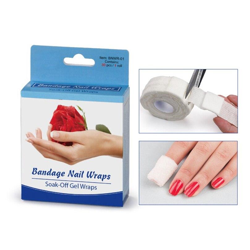 Bandage Nail Wraps Soak Off Gel Wrap Nail Polish Saturate Pad Nonwoven Gauze Adhesive Tape Nail