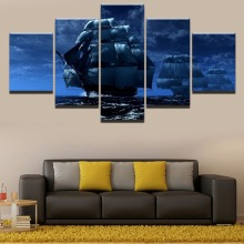 Classical sailing HD Print Painting 5 Piece Canvas Art Modern Decor painting on canvas poster Room