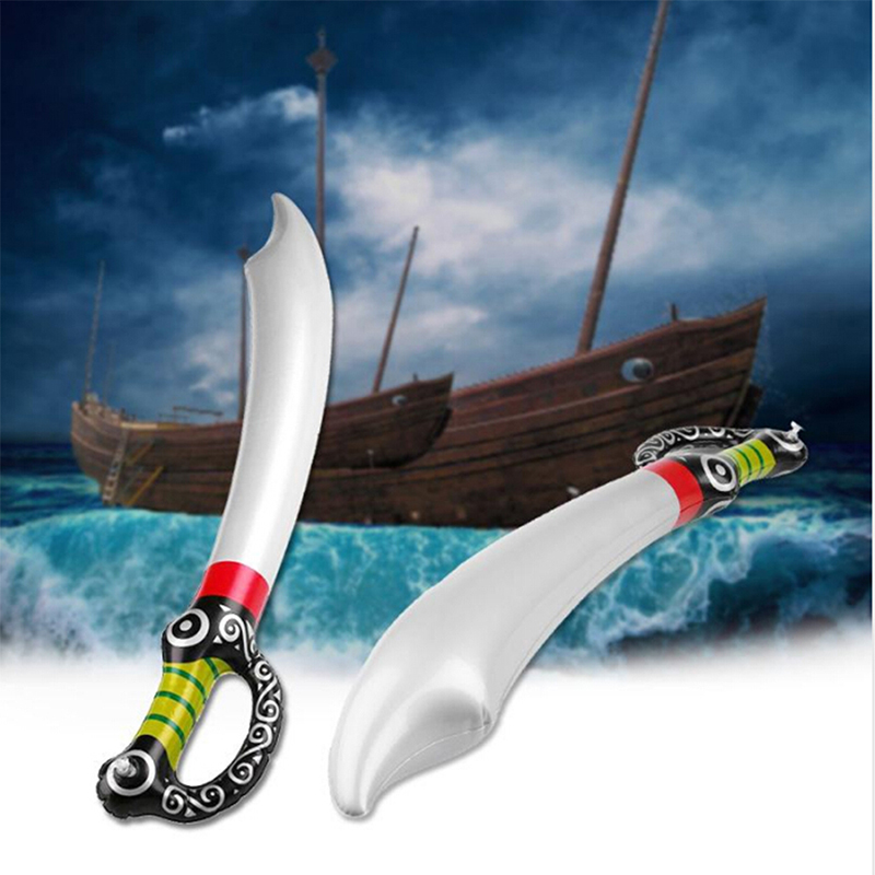 Hot Inflatable Pirate Toy Sword Stage Props Inflated Children Cosplay Toys Outdoor Fun Game Playing Birthday Party Favors