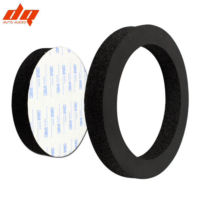 2pcs 6.5 Inch Car Speaker Sponge Washer Door Sound Insulation Cotton Audio Coaxial Speakers Sealed Soundproof Self Adhesive Ring