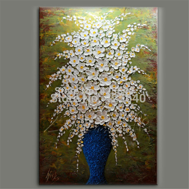 Aliexpress.com : Buy Hand Painted Palette Knife White ...